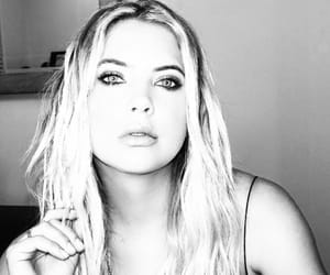 black and white, pretty little liars, and ashley benson image