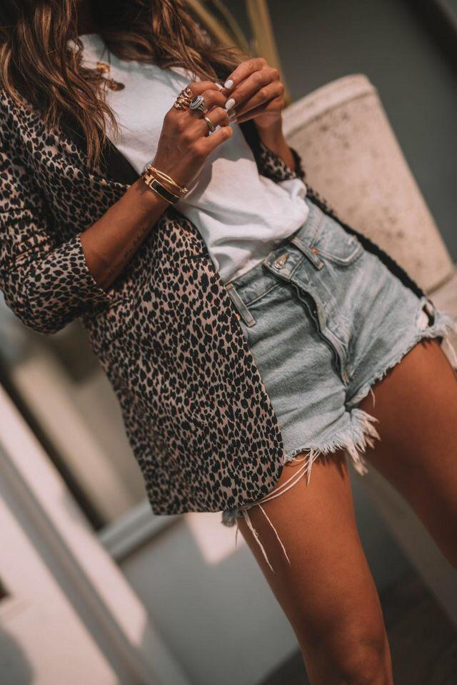 blazer, fashion, and shorts image