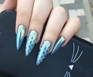 blue, magic, and mermaid image