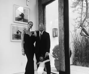 black & white, model, and family image