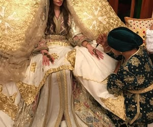 arabic, beauty, and bride image