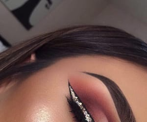 eyeliner, eyeshadow, and goals image