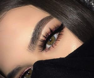 eyebrow, stunning, and eyelashes image