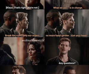 The Originals, klaus mikaelson, and marcel gerard image