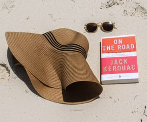 beach, blogger, and books image