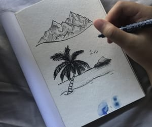 beach, blue, and doodle image