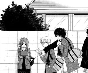 manga girl, manga boy, and tonari no kaibutsu-kun image