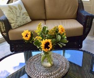 beautiful, sunroom, and yellow image