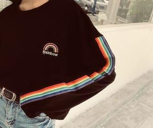 rainbow, fashion, and aesthetic image