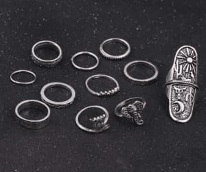 jewellery, ring, and ringset image