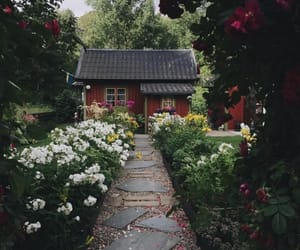 farm, flowers, and house image