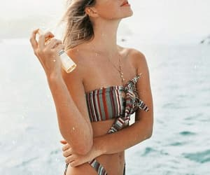 beachwear, style, and swimwear image