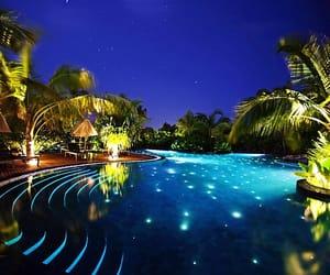 Island, Maldives, and pool image
