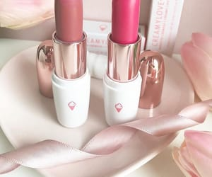 pink, lipstic, and mode image