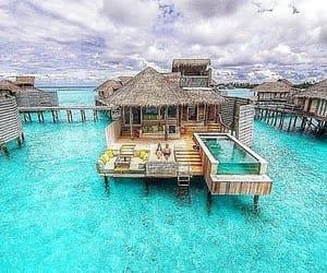 indian ocean, Maldives, and atoll image