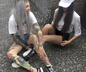 girl, tattoo, and alternative image