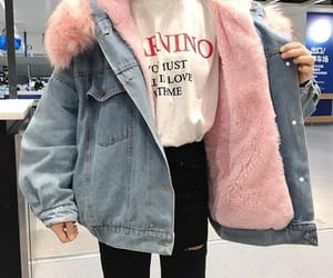 jeans, pink, and fashion image