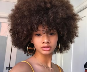Afro, curly, and curlyhair image