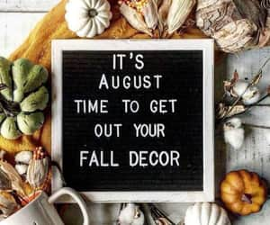 August, fall, and pumpkin image