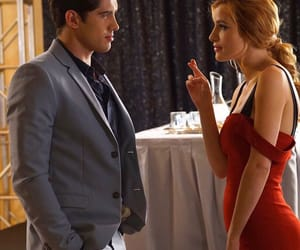 paige, carter jenkins, and red dress image