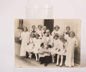 etsy, first communion, and black white photo image