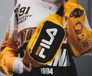 fashion, Fila, and yellow image