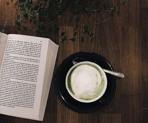 autumn, beverage, and book image