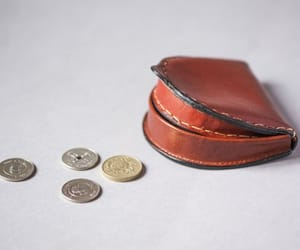 etsy, brown leather purse, and vintage coin purse image