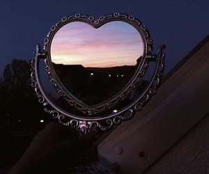 heart, mirror, and aesthetic image