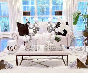 home decor, living room, and silver image