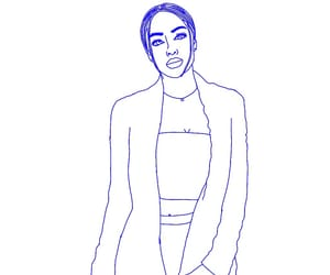 drawing, woman, and outline drawing image