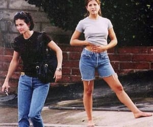 Courteney Cox, Jennifer Aniston, and friends image