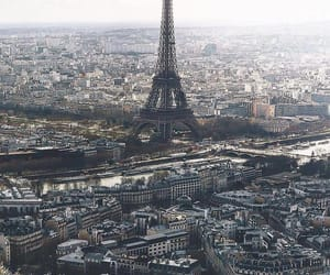 france, city, and earth image