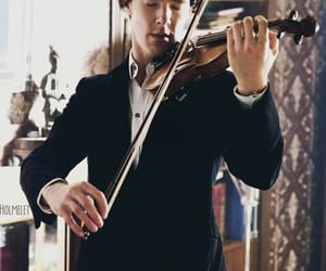 sherlock, benedict cumberbatch, and violin image