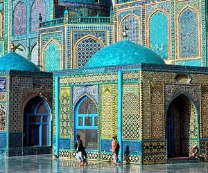 Afghanistan, the blue mosque, and shrine of hazrat ali image