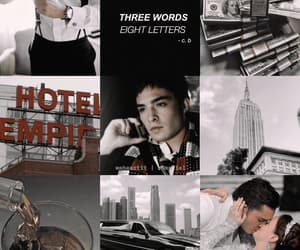 chuck and blair, chuck bass, and ed westwick image