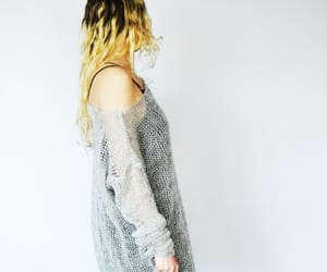 grunge, oversized, and mohair sweater image