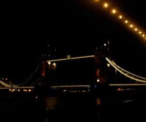 lights, london, and tower bridge image