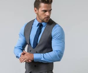 man, muscular, and suit image