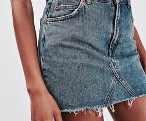 denim, fashion, and skirt image