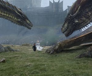 got, dragon, and game of thrones image