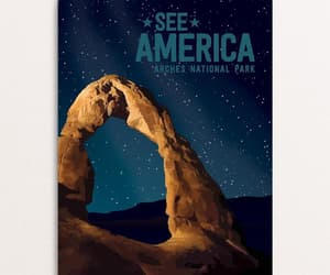 arches, national park, and travel poster image