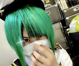 cap, green hair, and jrock image
