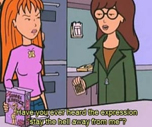 Daria, quotes, and cartoon image