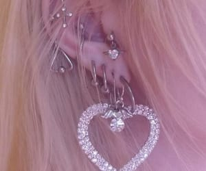 earrings, aesthetic, and pink image