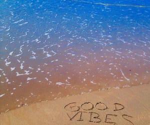 beach, good vibe, and sand image