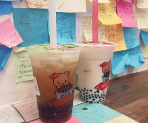 aesthetics, bears, and boba tea image