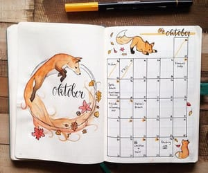 fox, planner, and bullet journal image