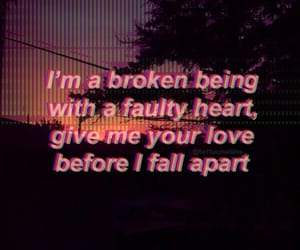 broken, broken hearts, and grunge image