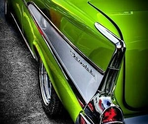 chevy, classic fins, and Close-ups image